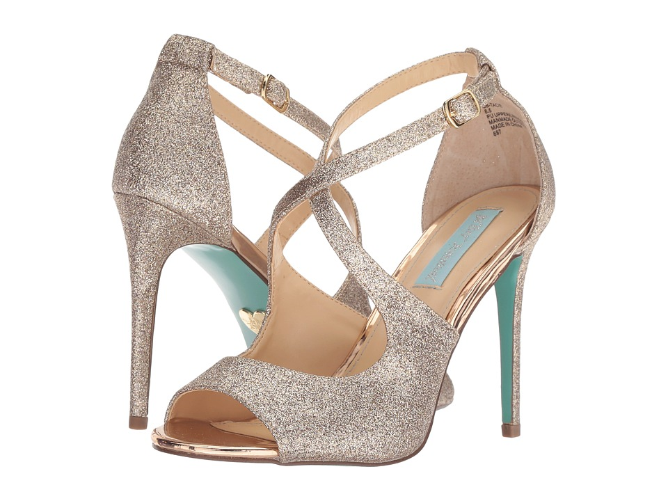 Blue by Betsey Johnson Tracie (Gold Glitter) High Heels