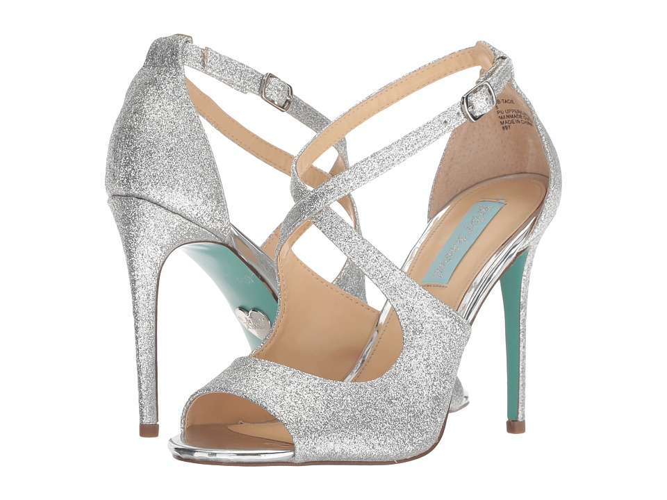 Blue by Betsey Johnson Tracie (Silver Glitter) High Heels