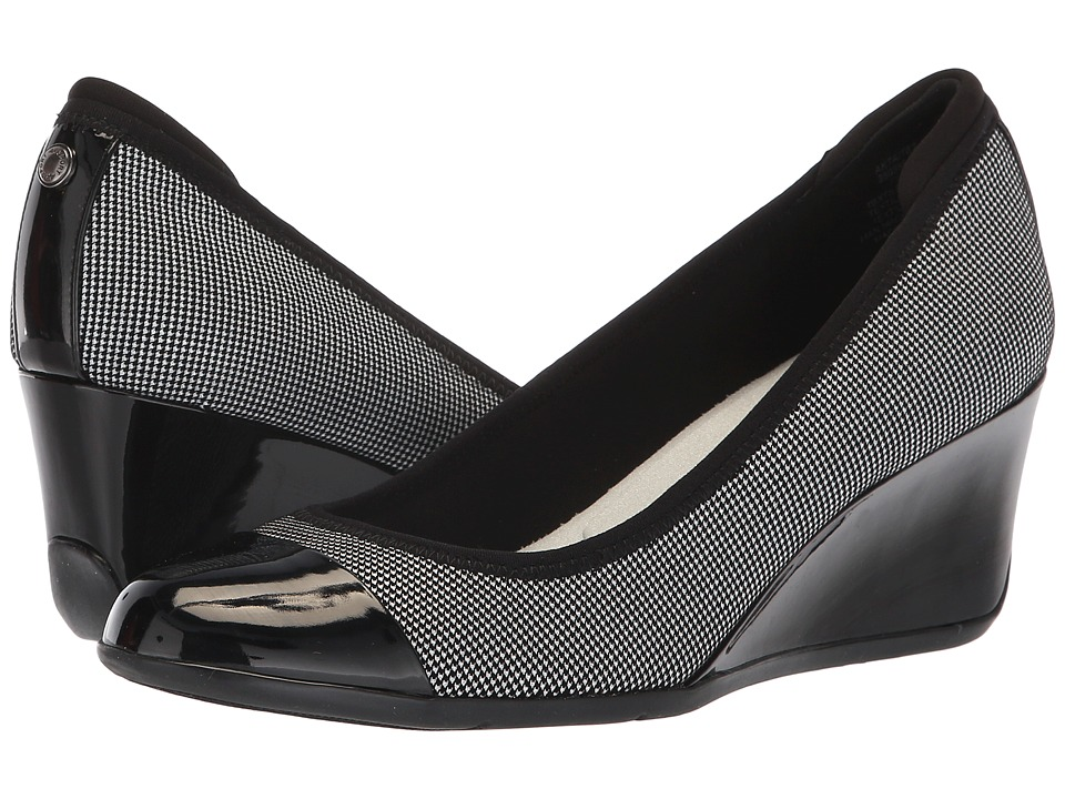 Anne Klein Taite Wedge Heel (Black Multi) Women's Shoes