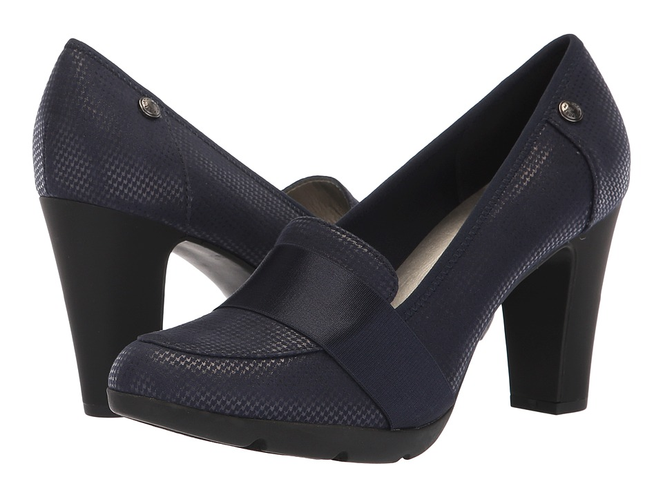 Anne Klein X-Ray Heel (Navy) Women's Shoes