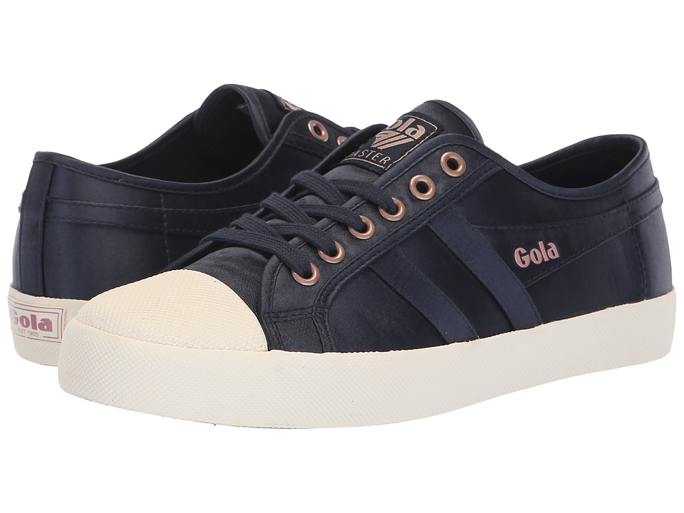 Gola Coaster Satin (Navy/Off-White) Women's Shoes