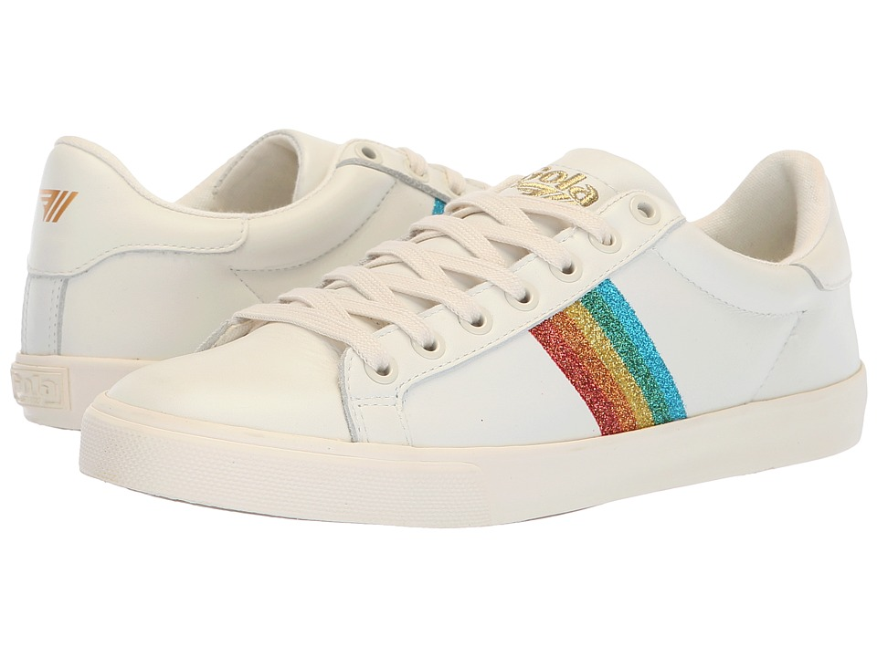 Gola Orchid Rainbow Glitter (Off-White/Multi) Women's Shoes