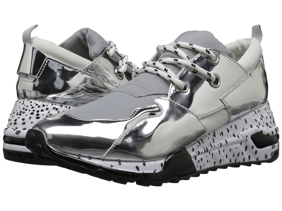 Steve Madden Cliff Sneaker (Silver) Women's Shoes