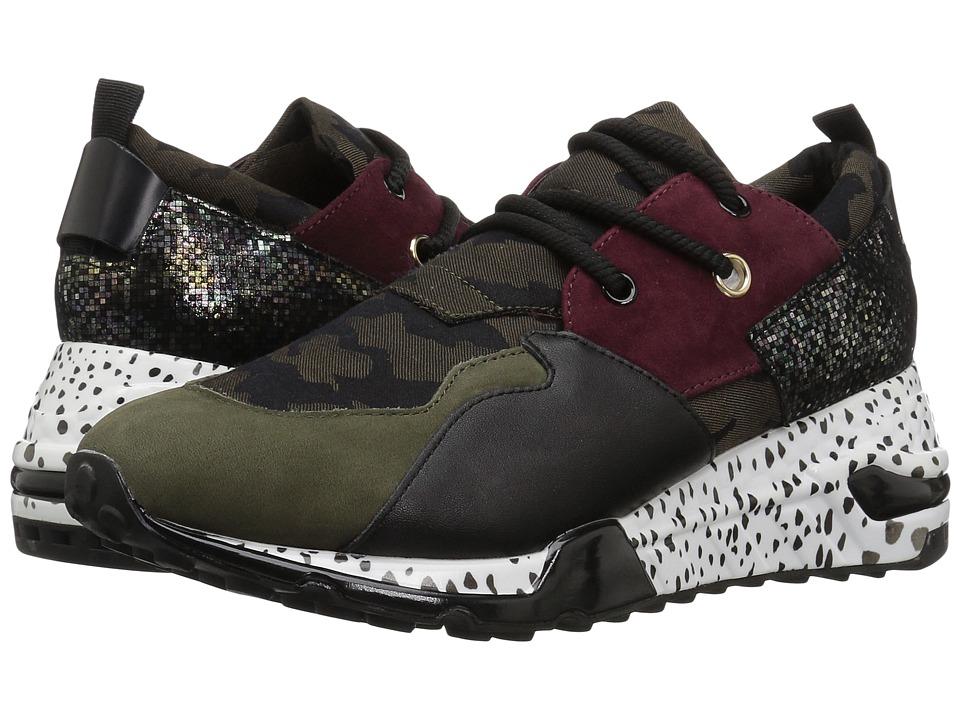 Steve Madden Cliff Sneaker (Olive Multi) Women's Shoes