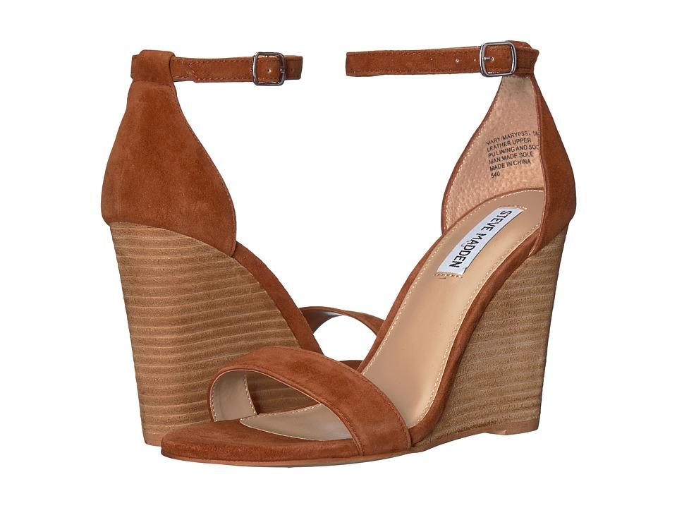 Steve Madden Mary Wedge Sandal (Chestnut Suede) Sandals