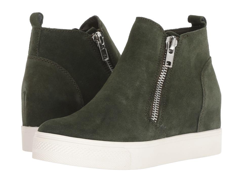 Steve Madden Wedgie Sneaker (Olive Suede) Women's Shoes