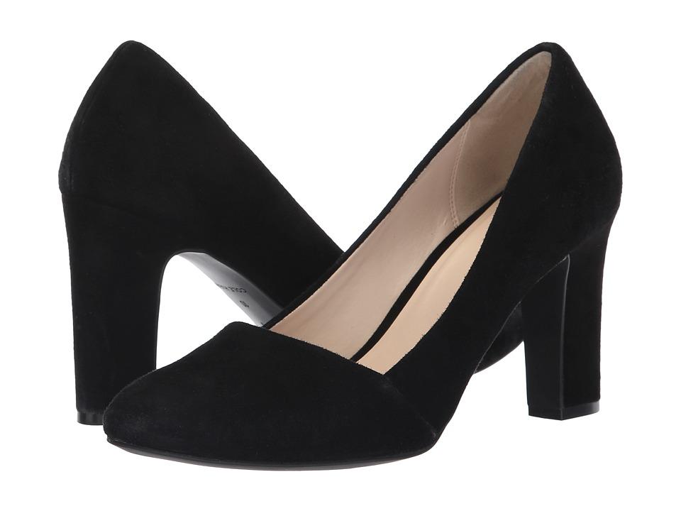 Cole Haan Kinslee Pump 85mm (Black Suede) High Heels