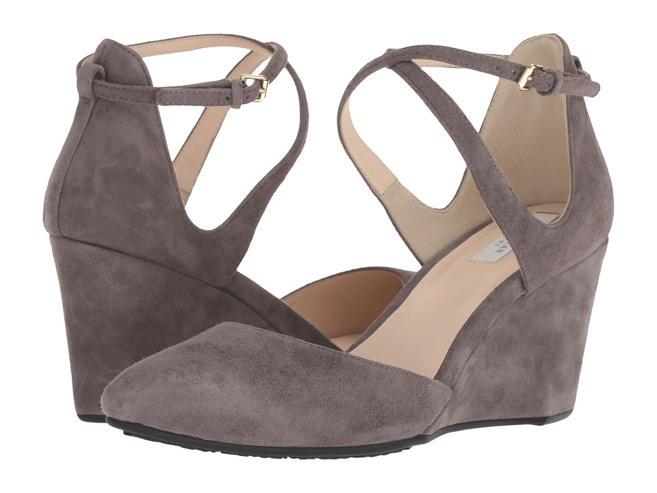 Cole Haan Lacey Wedge Ankle Strap 75mm (Stormcloud Suede) Wedges