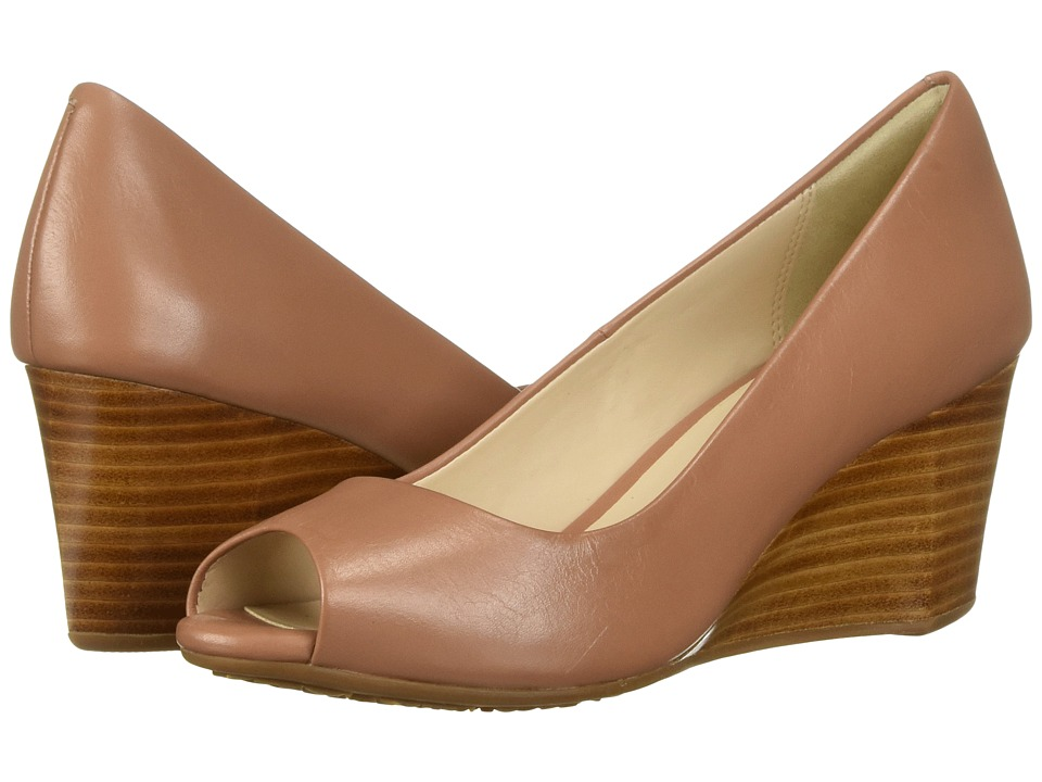 Cole Haan Sadie Open Toe Wedge 65mm (Mocha Mousse Leather) Wedges