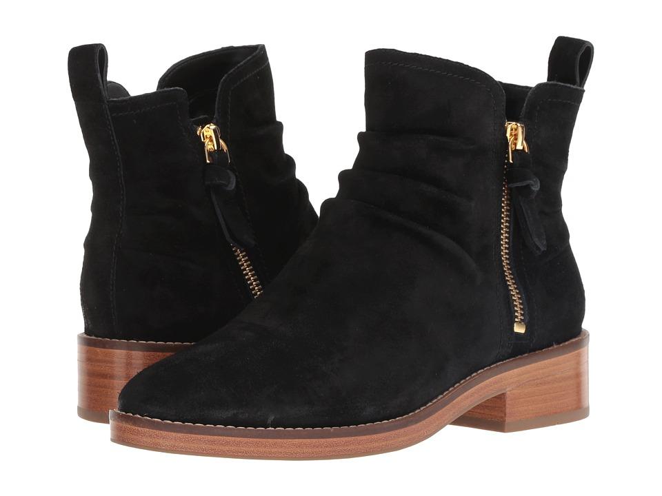 Cole Haan Harrington Grand Slouch Bootie (Black Suede) Women's Shoes