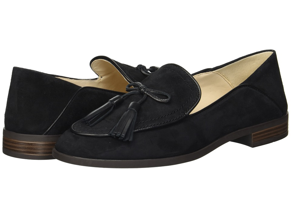 Cole Haan Pinch Soft Tassel Loafer (Black Suede) Women's Shoes