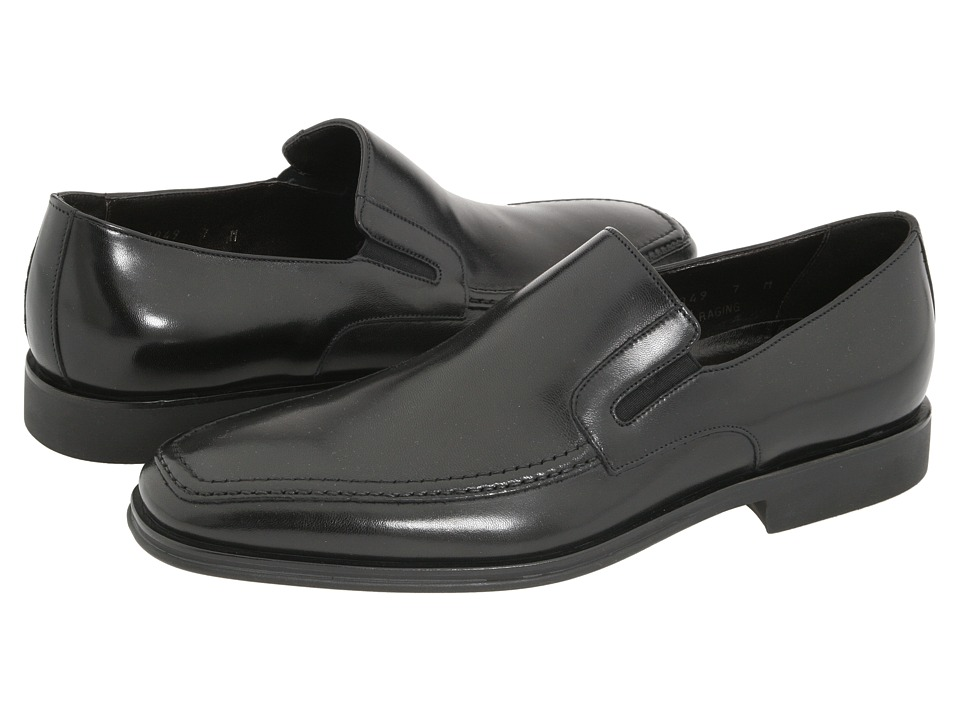 Bruno Magli Raging Black Nappa Leather Mens Slip on Dress Shoes