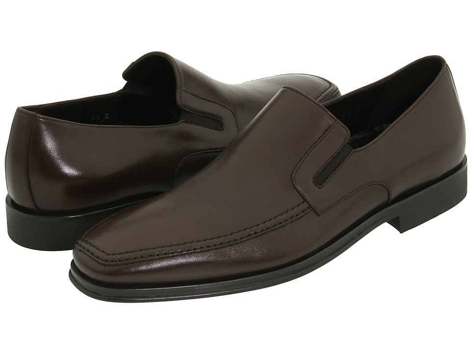 Bruno Magli Raging Dark Brown Nappa Mens Slip on Dress Shoes