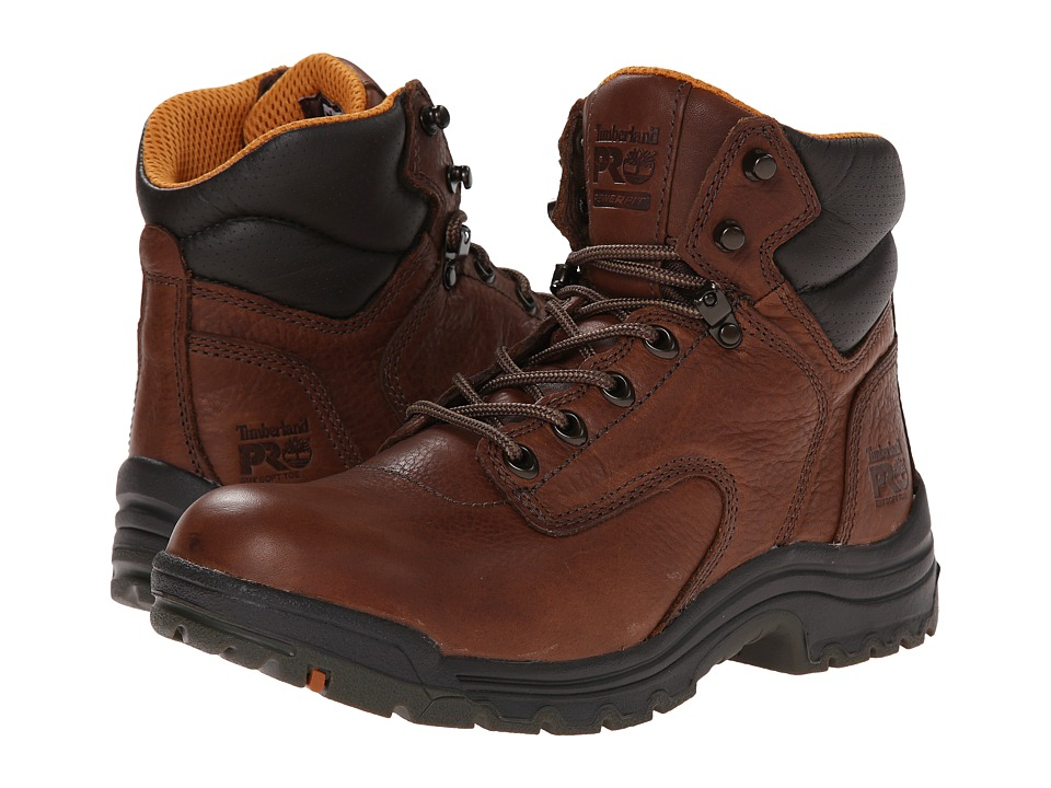 Timberland PRO TiTAN 6 Soft Toe (Coffee Full-Grain Leather) Women's Work Boots