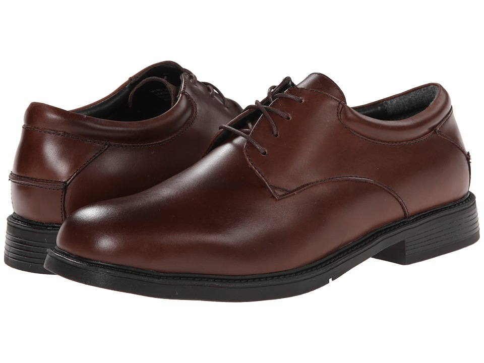 Nunn Bush Maury Plain Toe Oxford Lace-Up (Brown) Men