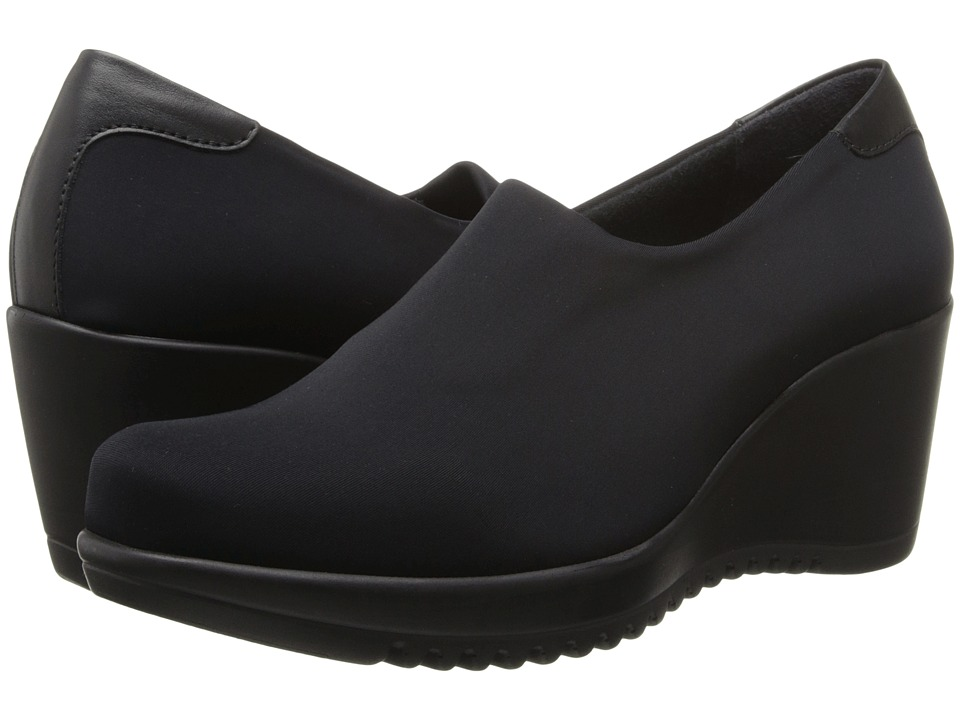 Shop La Canadienne online and buy La Canadienne Gina Black Micro Women's Wedge Shoes - The Gina is a versatile slip-on that will take you from day to night without missing a beat.Soft and durable micro upper with leather at the heel for added style.Stretch in the vamp allows for easy entry and a better fit.Antibacterial microfiber lining wicks away moisture to keep feet warm and dry.3 mm memory foam cushion insole offers added comfort with each step.TPR rubber wedge outsole adds height and flexible walking comfort.Made in Canada with the highest quality Italian components. Measurements:Heel Height: 2 3 4 inWeight: 12 ozPlatform Height: 1 inProduct measurements were taken using size 6.5, width M (B). Please note that measurements may vary by size.