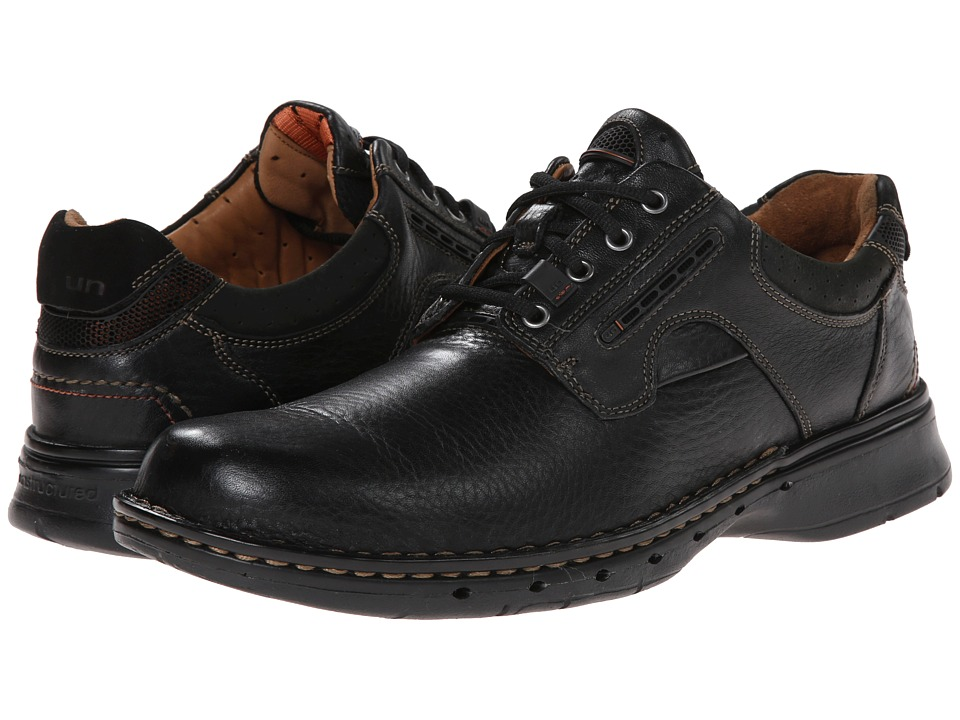 Clarks - Un.ravel (Black Leather) Men