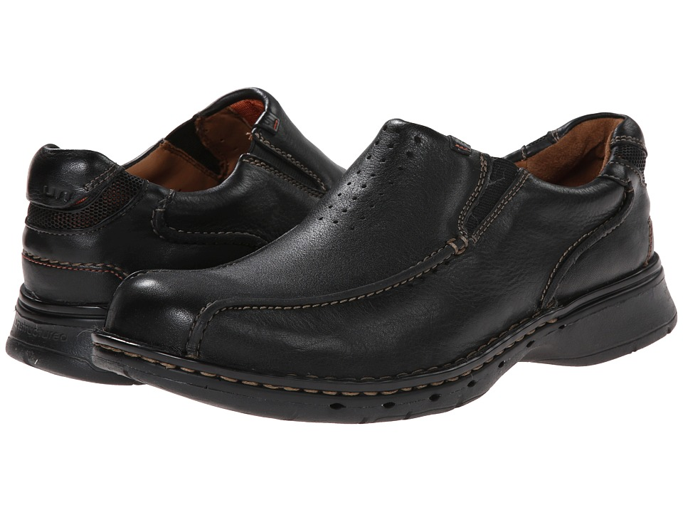 Clarks Un.seal (Black Leather) Men