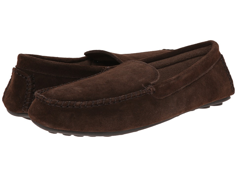 L.B. Evans Darren Chocolate Suede W/Terry Mens Slippers