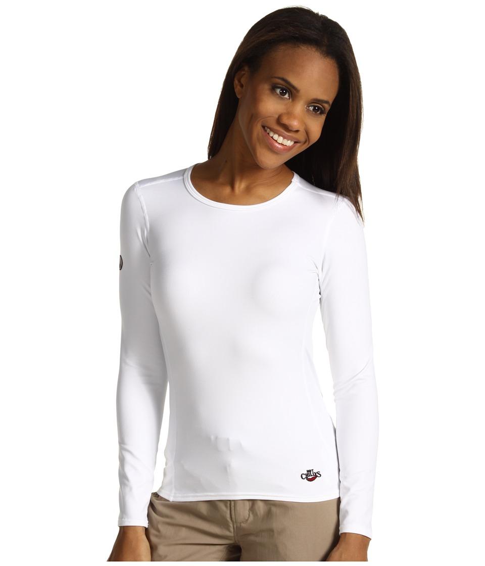 Hot Chillys Micro Elite Chamois 8K Crew Neck White Womens Underwear