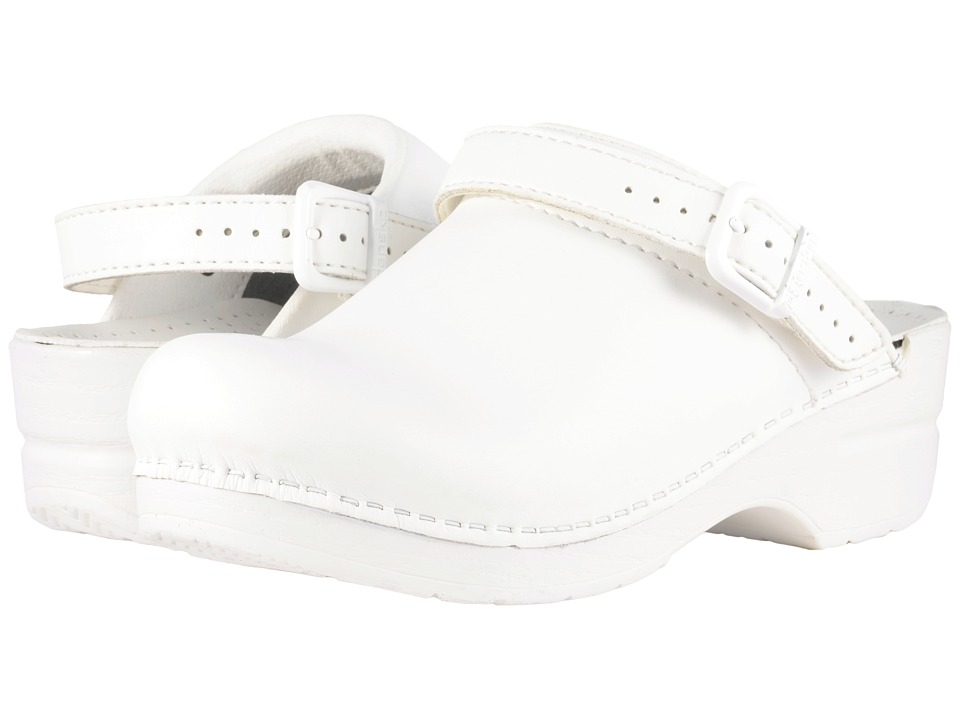 Dansko Ingrid White Box Womens Clog Shoes