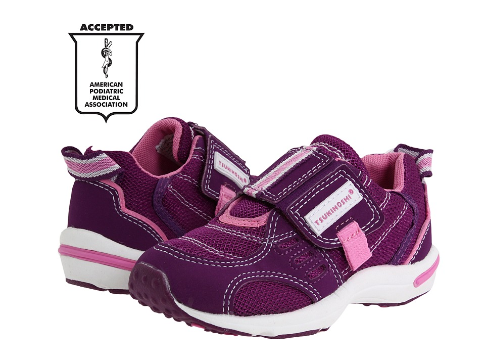 Tsukihoshi Kids - Euro (Toddler/Little Kid) (Purple/Pink) Girls Shoes