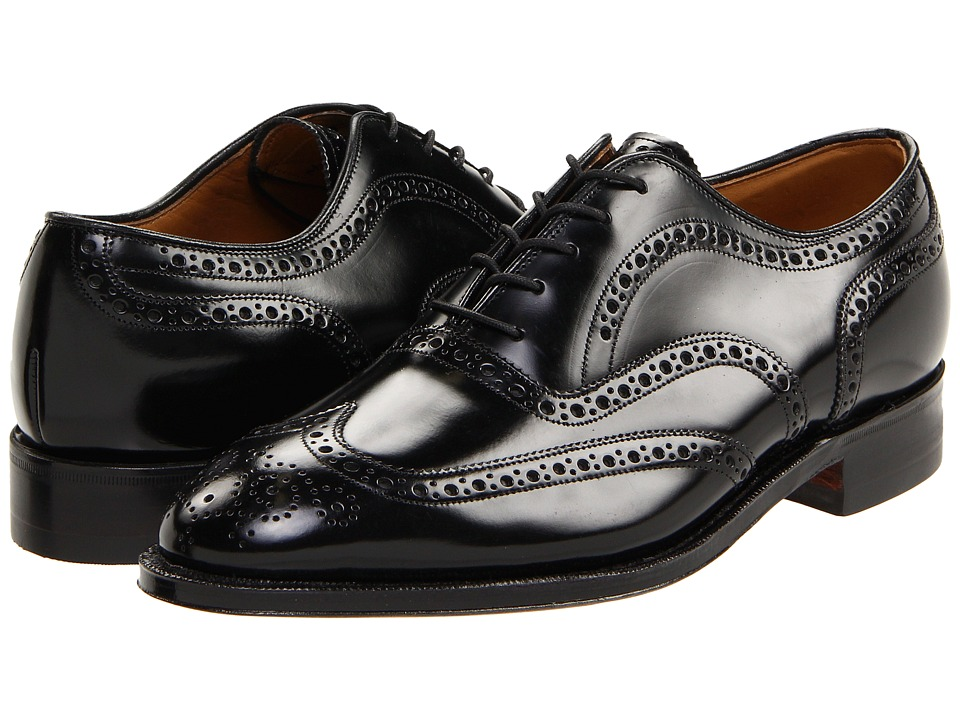 Johnston & Murphy - Waverly (Black) Mens Lace Up Wing Tip Shoes