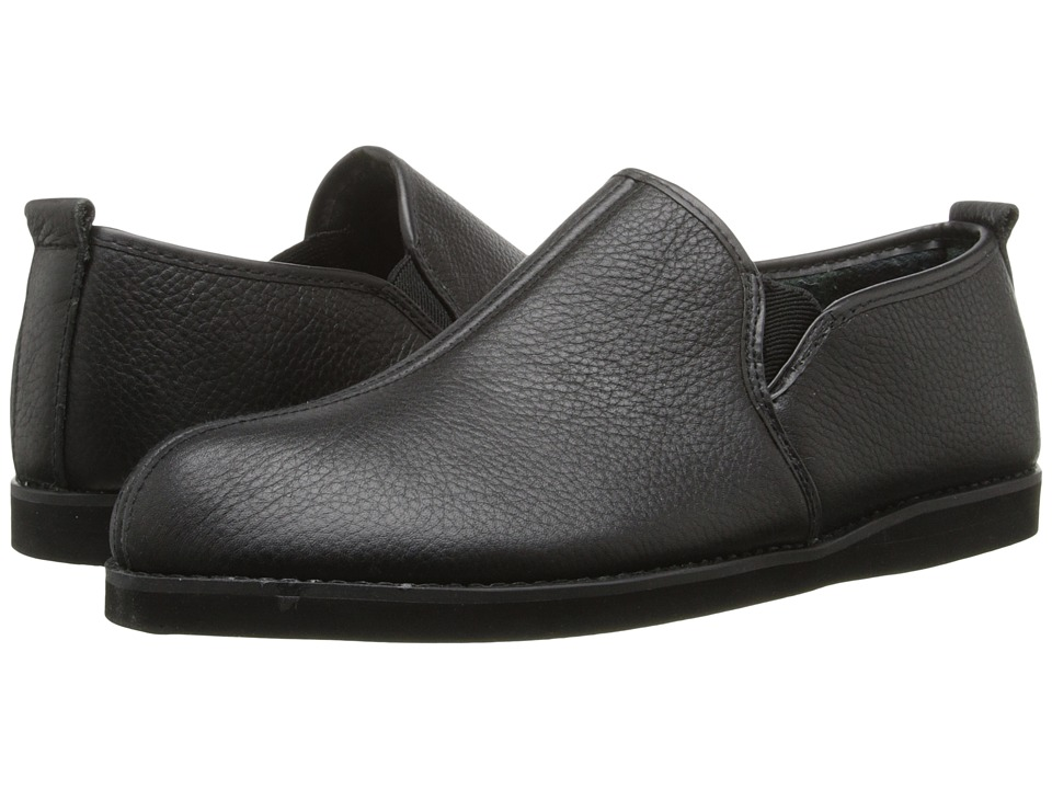 L.B. Evans Admiral Black Leather Mens Slippers