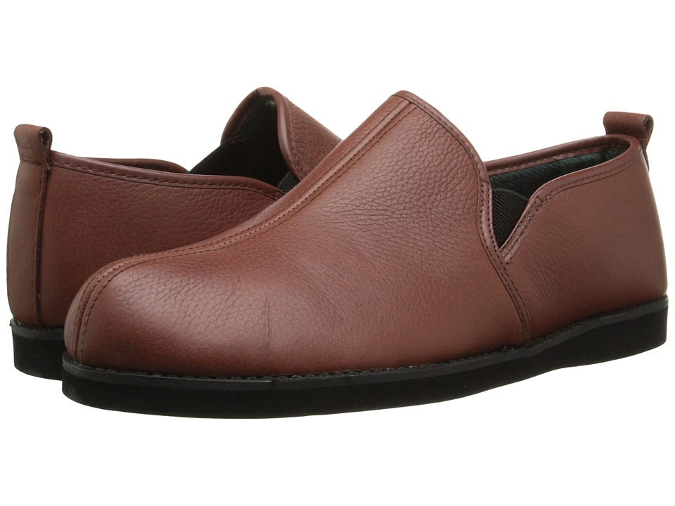 L.B. Evans Admiral Cognac Leather Mens Slippers