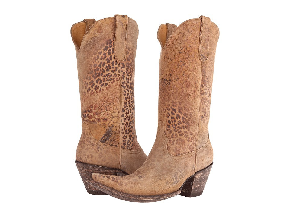 Old Gringo - Leopardito 13 (Ocre Goat) Cowboy Boots