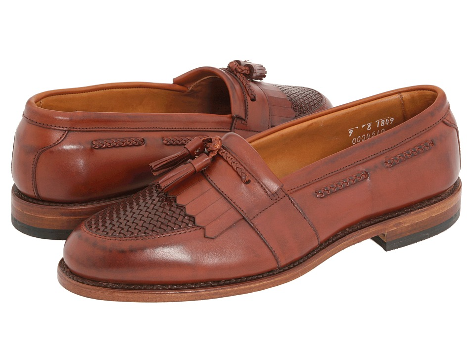1950s Style Mens Shoes Allen-Edmonds - Cody Chilli Burnished CalfChilli Burnished Weave Mens Slip-on Dress Shoes $395.00 AT vintagedancer.com