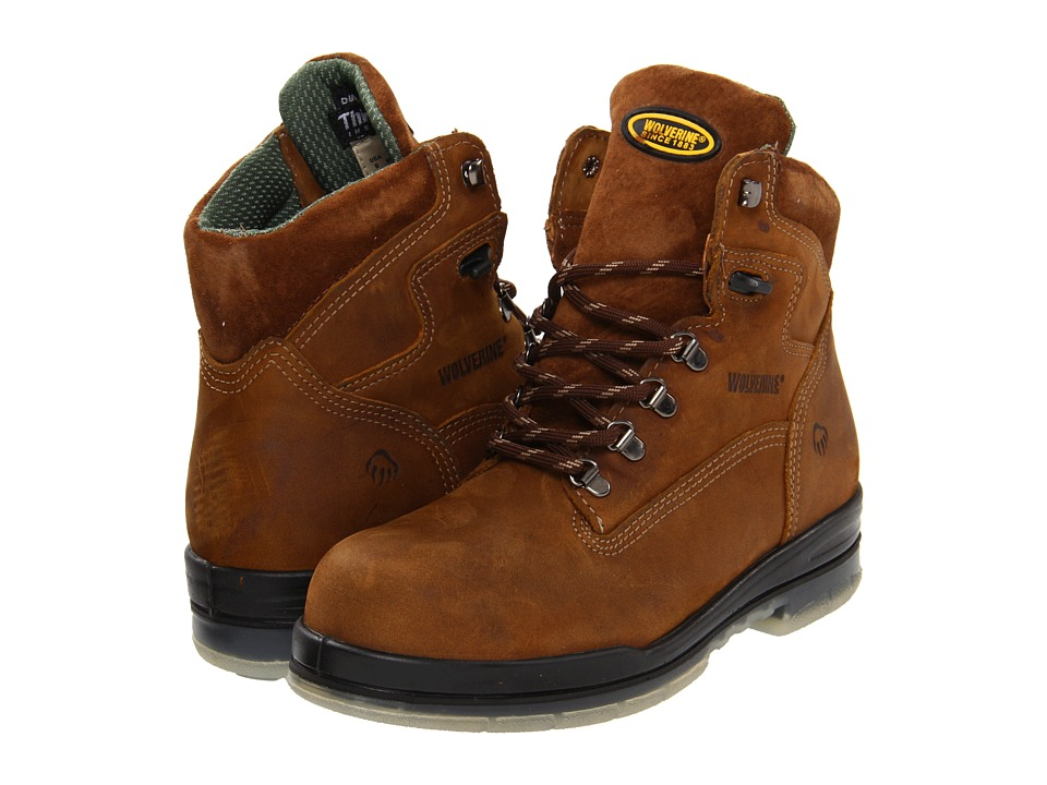 Wolverine - 6 DuraShocks(r) Insulated WP Boot (Stone) Mens Work Boots