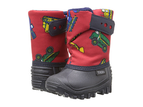 Tundra Boots Kids Teddy 4 (Toddler/Little Kid) - Navy/Red Truck