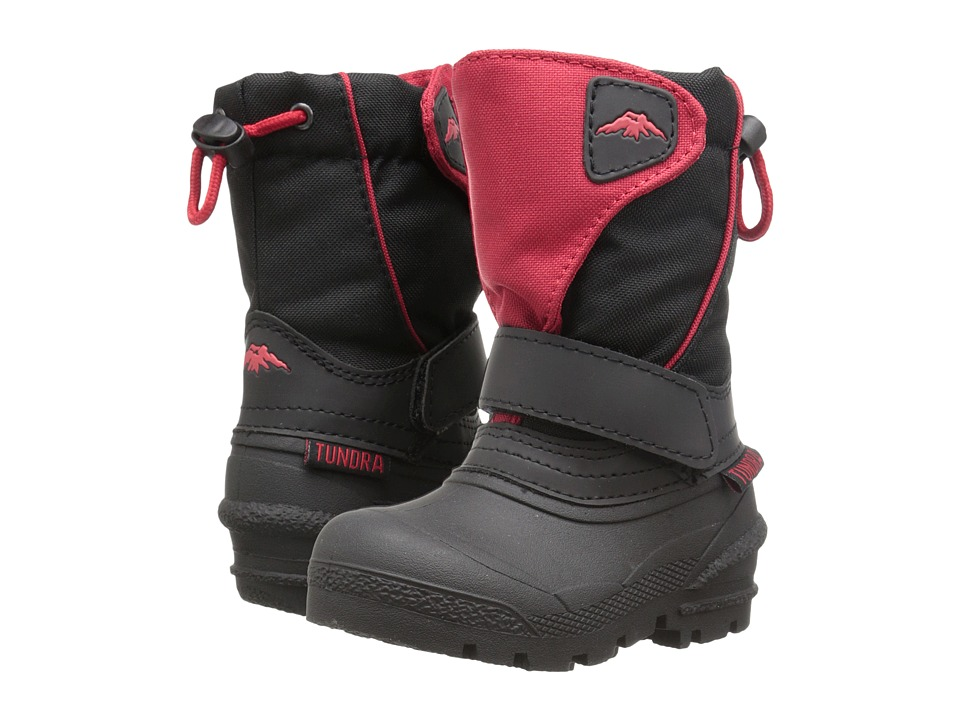 Tundra Boots Kids - Quebec (Toddler/Little Kid/Big Kid) (Black/Red) Boys Shoes