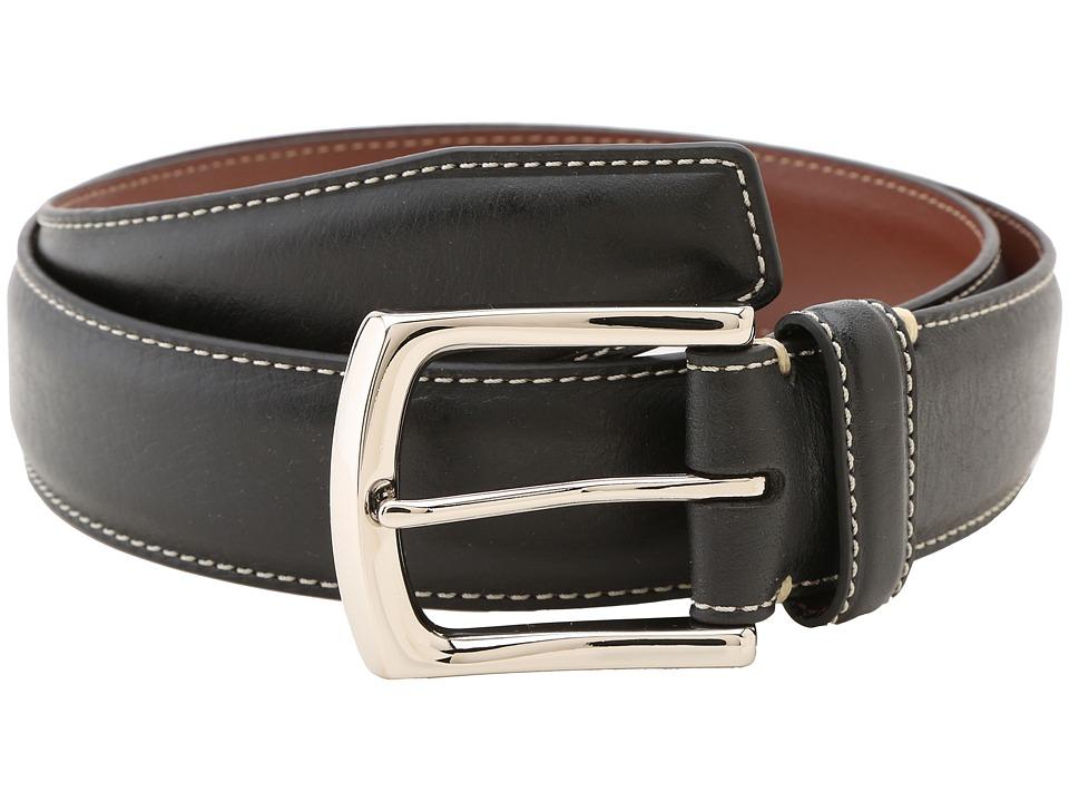 Torino Leather Co. 35MM Burnished Tumbled Black Mens Belts