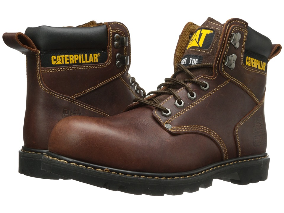Caterpillar - 2nd Shift Steel Toe (Tan) Mens Work Boots