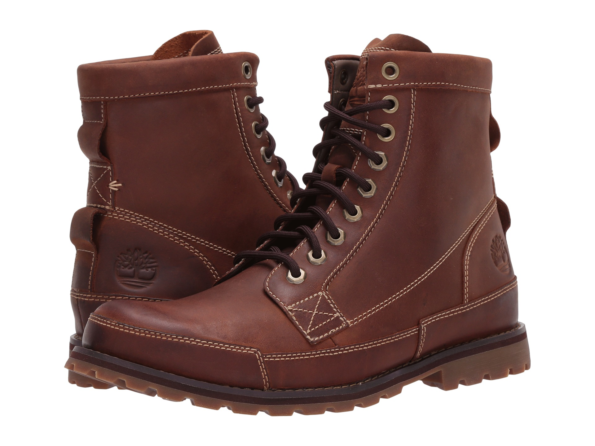 timberland earthkeepers men's 6 inch brown leather boots