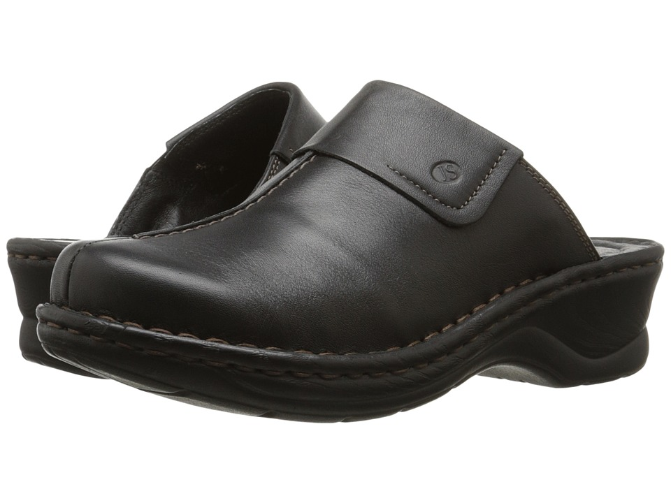 Josef Seibel Carole (Dakota Black Leather) Clogs