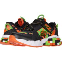 Children/'s Skechers Mega-Craft Cubotrons Sneaker Black//Orange