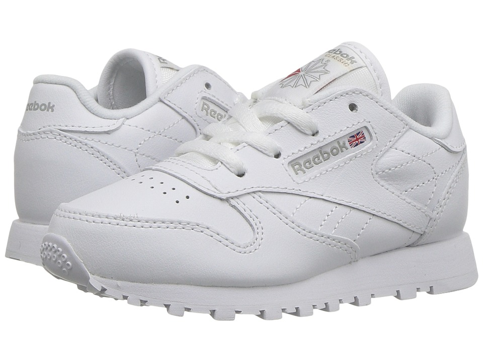 Reebok Kids - Classic Leather (Infant/Toddler) (White) Kids Shoes