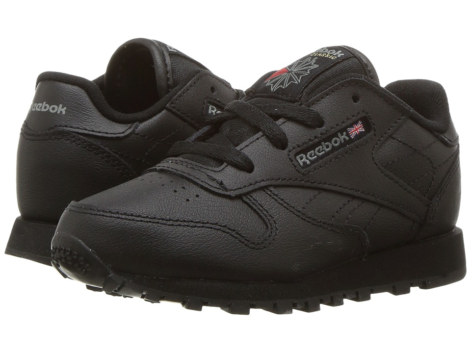 Reebok Kids Classic Leather (Infant/Toddler) (Black) Boys Shoes