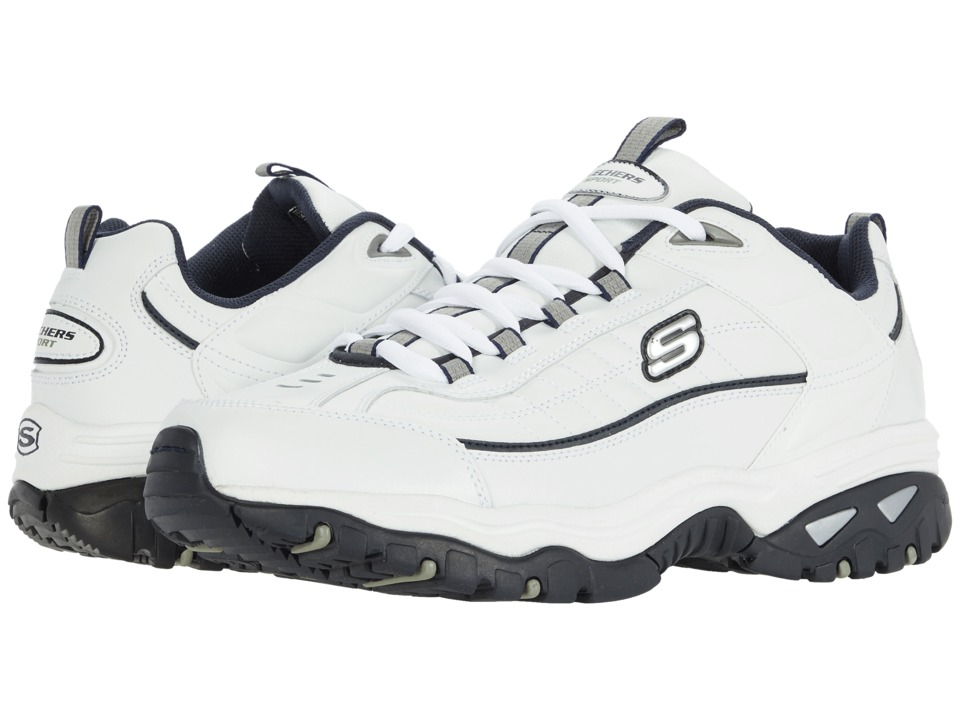 SKECHERS Energy Afterburn (White/Navy) Men