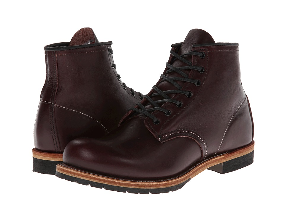 Red Wing Heritage - Beckman 6 Round Toe (Black Cherry Featherstone) Mens Lace-up Boots