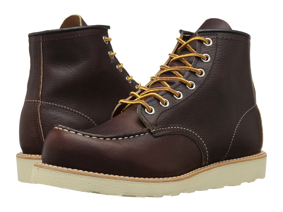 Red Wing Heritage 6 Moc Toe Briar Oil Slick Mens Lace up Boots