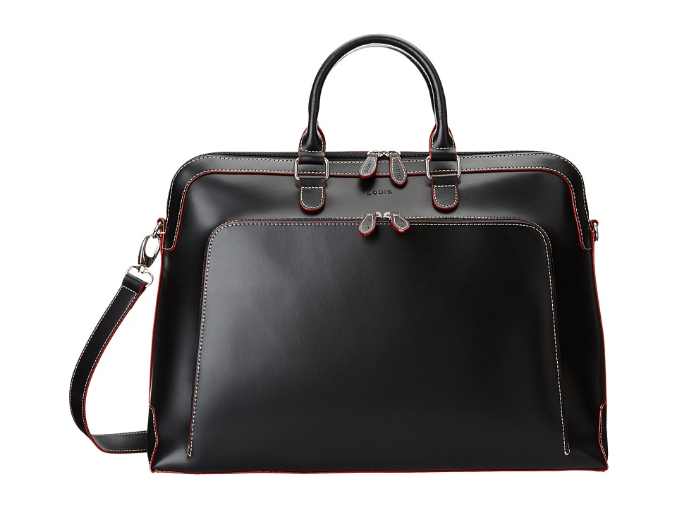 Lodis Accessories - Audrey Brera Briefcase With Laptop Pocket (Black) Briefcase Bags