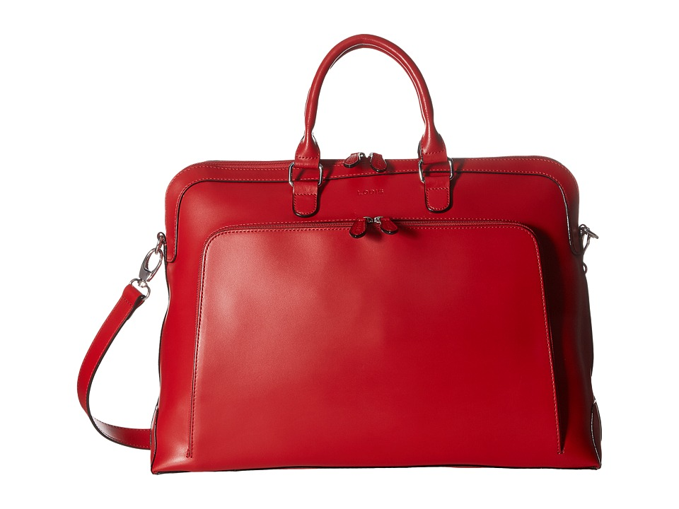 Lodis Accessories - Audrey Brera Briefcase With Laptop Pocket (Red) Briefcase Bags