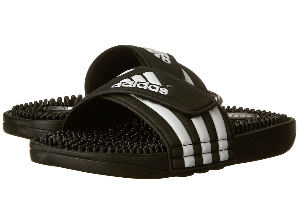 adidas Kids - Adissage K Core (Toddler/Little Kid/Big Kid) (Black/White) Kids Shoes