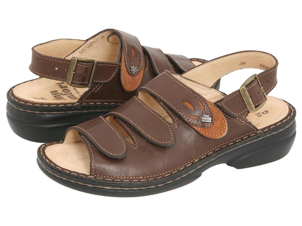 Finn Comfort Saloniki 82557 Kaffee/Camel Leather Womens Sandals