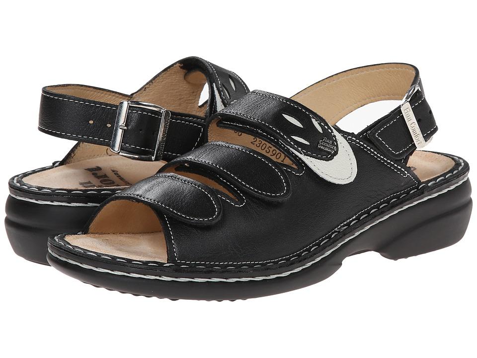 Finn Comfort Saloniki 82557 Black/Jasmin Nappa Womens Sandals