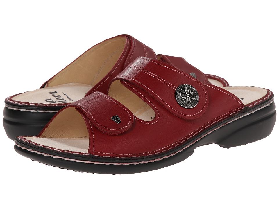 Finn Comfort Sansibar 82550 Red Leather Womens Shoes